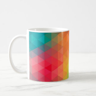 Awesome cool trendy colourful triangles pattern coffee mug