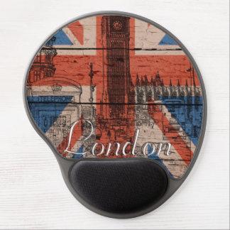 Awesome cool trendy old wood grunge U.k. Flag Gel Mouse Mat