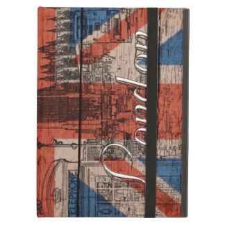Awesome cool trendy old wood grunge U.k. Flag iPad Air Case