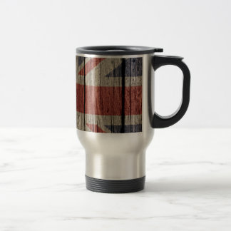 Awesome cool trendy old wood grunge U.k. flag Travel Mug