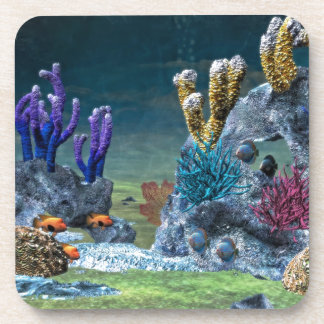 Awesome Coral Reef Beverage Coasters