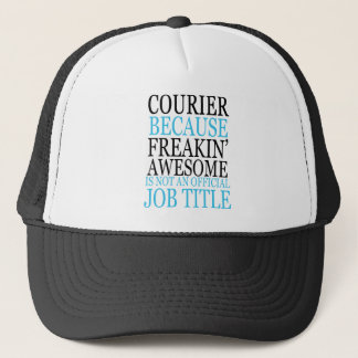 awesome courier 1 trucker hat