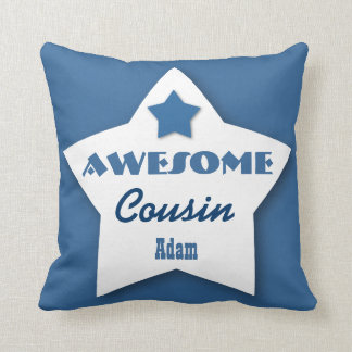 Awesome COUSIN Big Heart Custom BLUE 6 Cushion