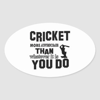 Awesome Cricket designs Sticker