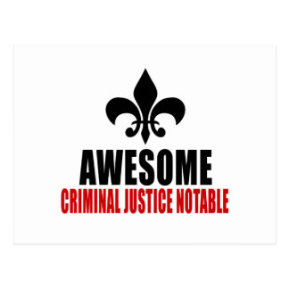 AWESOME CRIMINAL JUSTICE NOTABLE POSTCARD