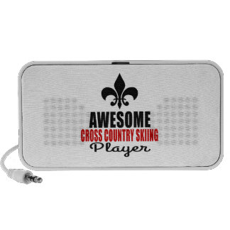 AWESOME CROSS COUNTRY SKIING PLAYER PC SPEAKERS
