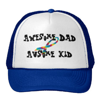 Awesome Dad AuSome kid trucker hat
