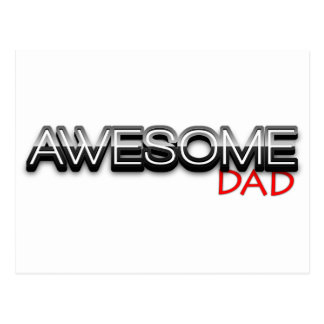 Awesome Dad No 1 Dad Fathers Day Postcards