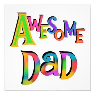 Awesome Dad T-shirts and Gifts Personalised Announcements