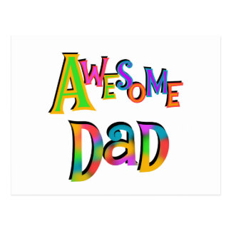 Awesome Dad T-shirts and Gifts Post Card