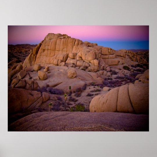 Awesome Desert Sunset Poster