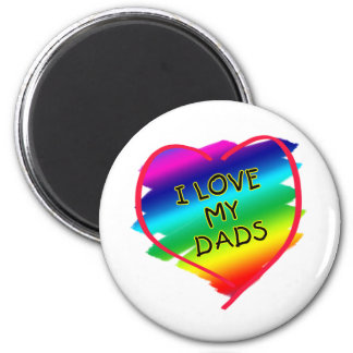 Awesome Design for Gay Dads 6 Cm Round Magnet