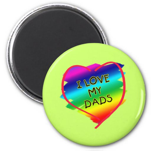 Awesome Design for Gay Dads Magnets