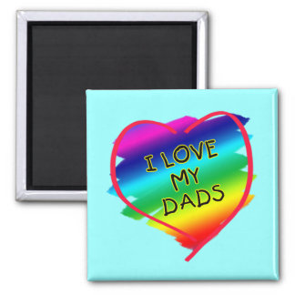 Awesome Design for Gay Dads Square Magnet
