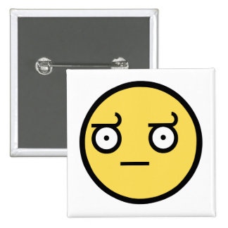 Awesome Disapproval Face 15 Cm Square Badge
