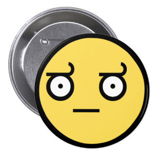 Awesome Disapproval Face Pinback Buttons