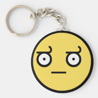 Awesome Disapproval Face Basic Round Button Key Ring