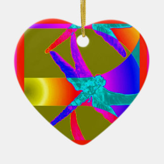 Awesome Dragonfly Rainbow Gifts by Sharles Christmas Ornament