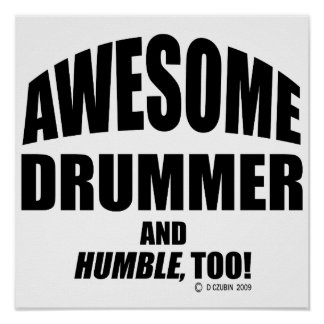 Awesome Drummer Poster