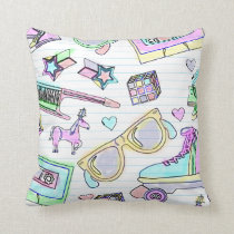 Awesome Eighties Colouring Book Pattern Cushion