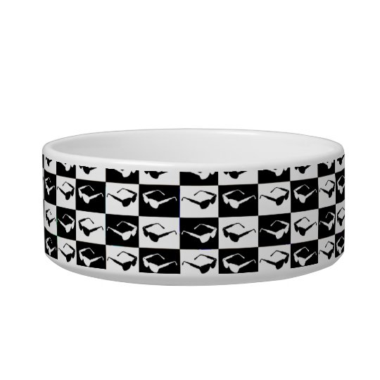 Awesome Eighties Mod Sunglasses Checkers Bowl