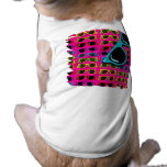 Awesome Eighties Sunglasses on Pink Sleeveless Dog Shirt