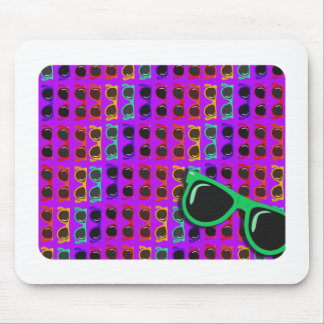Awesome Eighties Sunglasses on Purple Mouse Mat