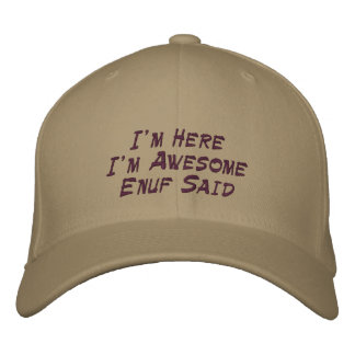 Awesome Embroidered Cap