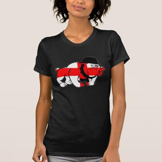 Awesome English Bulldog English flag T-Shirt
