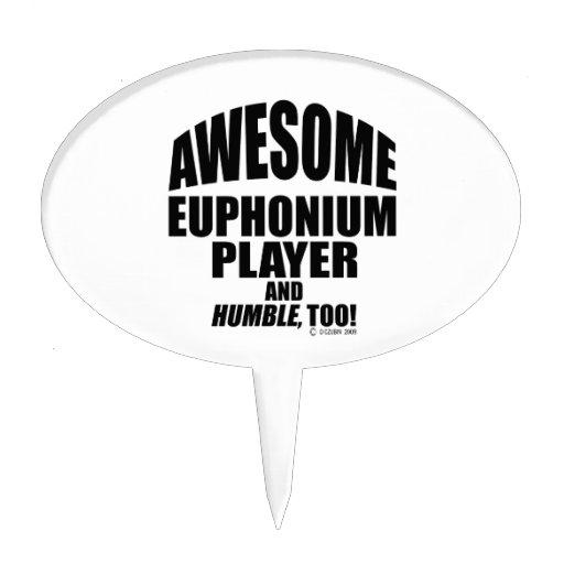 Awesome Euphonium Player Cake Pick