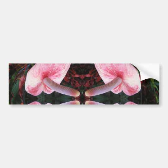 AWESOME Exotic Flower Bumper Sticker