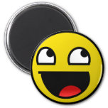 Awesome Face! 6 Cm Round Magnet