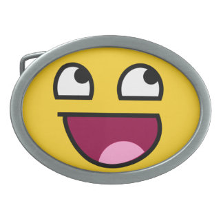 Awesome Face! Belt Buckles