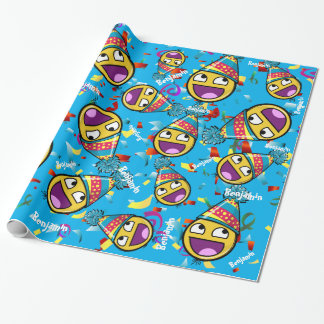 Awesome Face Custom Color Birthday Wrapping Paper