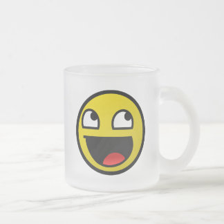 Awesome Face! Frosted Glass Mug