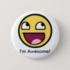 Awesome Face - Im Awesome 6 Cm Round Badge