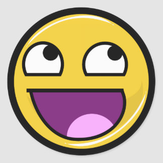 Awesome Face Internet Meme Round Sticker