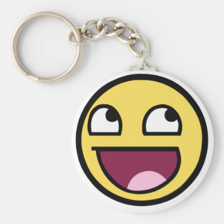 Awesome Face Keyring
