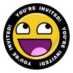 Awesome Face Meme 13 Cm X 13 Cm Square Invitation Card