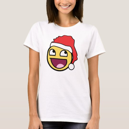 Awesome Face Santa Ladies Baby Doll (Fitted) T-Shirt