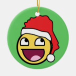 Awesome Face Santa Ornament