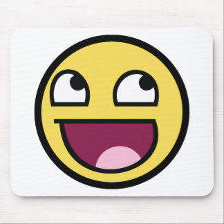 Awesome Face Smiley Mouse Pad