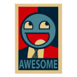 Awesome Face Vectorised Poster