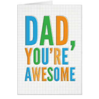 Awesome Father s Day Card