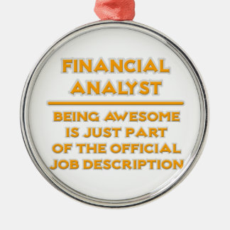 Awesome Financial Analyst .. Job Description Christmas Ornament