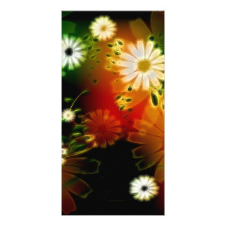 Awesome flowers customized photo card