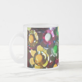Awesome Flowers Frosted Glass Mug