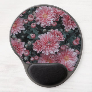awesome flowers, peach gel mouse mats