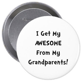 Awesome From Grandparents 10 Cm Round Badge