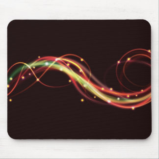 Awesome funky swirling fire mouse mat